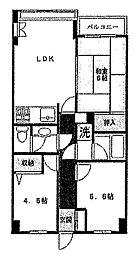 フローラルガーデン羽村[4階]の間取り