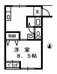 メゾンリバージュ[2階]の間取り