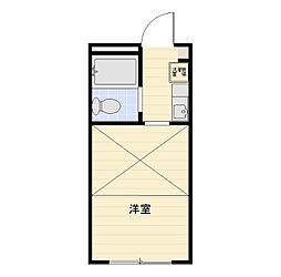 アリス行田第3号館[103号室]の間取り