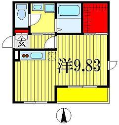 ヴェルク弐番館[2階]の間取り