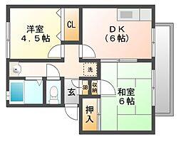ドルフ武庫[1階]の間取り