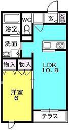 アンティーム桜[102号室]の間取り