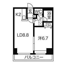 Alpha Square(アルファ スクエア)大通東3[9階]の間取り