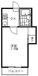 ワークマンション[3階]の間取り