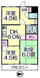 第3山崎マンション[302号室]の間取り