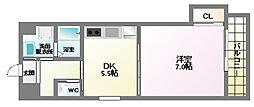 ヴィーブル駒川[4階]の間取り