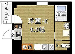 b'CASA Higashi Ginza[201号室]の間取り