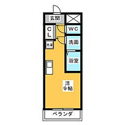poggio al sole quattro[4階]の間取り