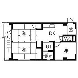 メゾンドールサカエ[4階]の間取り