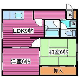 北海道札幌市東区北四十条東17丁目の賃貸マンションの間取り