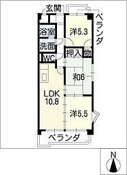 グランドールナカシマ[3階]の間取り