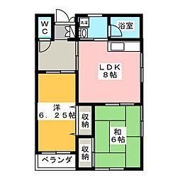 エルハウス[2階]の間取り