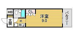 フラット平野南[5O1号室号室]の間取り