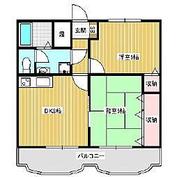 ガーデンハウスI[1階]の間取り