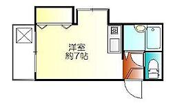 バンホーフ杉田[2階]の間取り