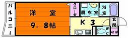 プラシード松崎[1階]の間取り