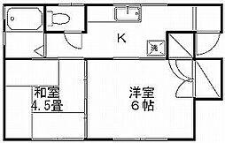 メールハイツ宮浦[2階]の間取り