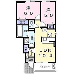 上野町アパート C棟[0102号室]の間取り