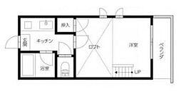徳島県徳島市東吉野町1丁目の賃貸アパートの間取り