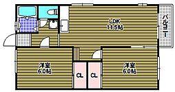シャトー・ド・イワネ8号館[1階]の間取り