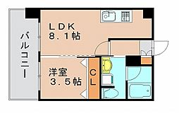 コンダクト福岡東[10階]の間取り