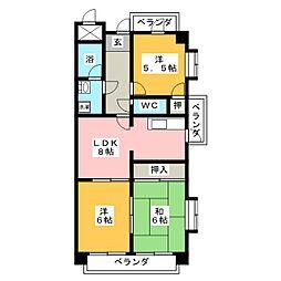 エスポア日吉[11階]の間取り