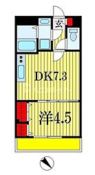 仮称)中央区弁天3丁目計画 3階1DKの間取り