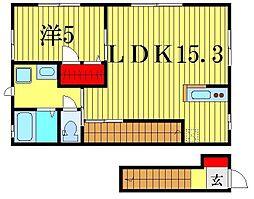 ラピス新宿 B棟[2階]の間取り