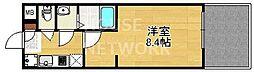 プリモベント円町[202号室号室]の間取り