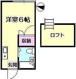 高瀬ハイツ[2階]の間取り