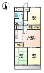 フロ−ラルハイツ澤田[3階]の間取り
