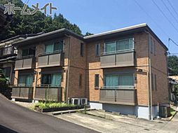 岐阜県岐阜市芥見清水の賃貸アパートの外観