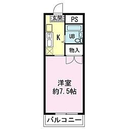 リベラルコート祇園原[2階]の間取り