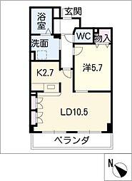 藤陽レジデンス[2階]の間取り
