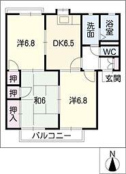 ラ・カーサ A棟[1階]の間取り