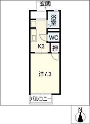 カーサシャンテ相原[2階]の間取り