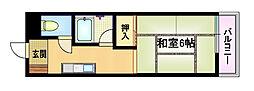 Osaka Metro谷町線 都島駅 徒歩7分の賃貸マンション 2階1DKの間取り