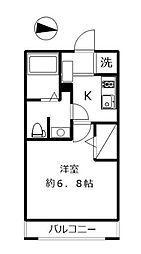 神奈川県横浜市港北区大倉山1丁目の賃貸アパートの間取り