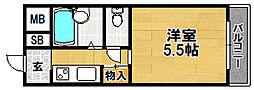 大阪府大阪市東淀川区小松2丁目の賃貸マンションの間取り