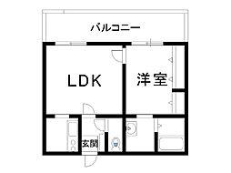 KEEP新今里[3階]の間取り