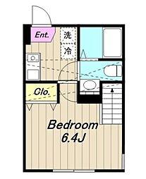 神奈川県相模原市中央区富士見6丁目の賃貸アパートの間取り