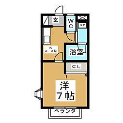 宮城県仙台市泉区南光台3丁目の賃貸アパートの間取り