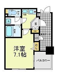 エステムプラザ大阪セントラル[6階]の間取り