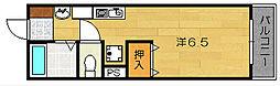 大阪府茨木市中穂積2丁目の賃貸マンションの間取り