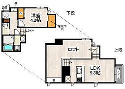 CB南福岡クルブ 2階1LDKの間取り