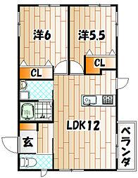 ラフィーネ63[1階]の間取り
