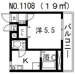 ラッキーセンター河堀口マンション[4階]の間取り