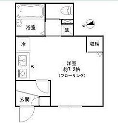 東京都品川区戸越1丁目の賃貸アパートの間取り