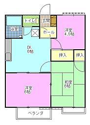 ルーラルハイムB[101 202 203号室]の間取り