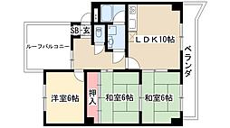 グランパス18[3階]の間取り